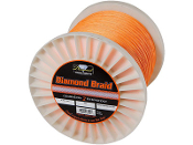 Diamond Braid - Orange - Hollow Core - 2500 Yard Spool
